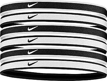 Nike Swoosh Sport Headbands 6 Pack  One Size Fits Most Black/Grey/White  - Unisex