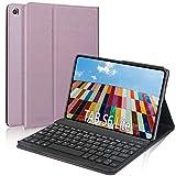 """DINGRICH Funda Teclado para Samsung Galaxy Tab S6 Lite 10.4"""" 2020 P610/P615, Español Ñ Teclado Bluetooth Inalámbrico Extraíble Magnético para Samsung Galaxy S6 Lite 10.4 2020 Tablet Oro Rosa"""