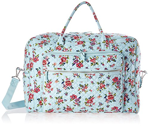 Vera Bradley Signature Cotton Weekender Travel Bag, Water Bouquet