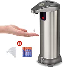 Zipu Automatic Soap Dispenser,Touchless Soap Dispenser with On/Off Switch and Adjustable Soap Dispenser Output Switch,Included Batteries and Funnel