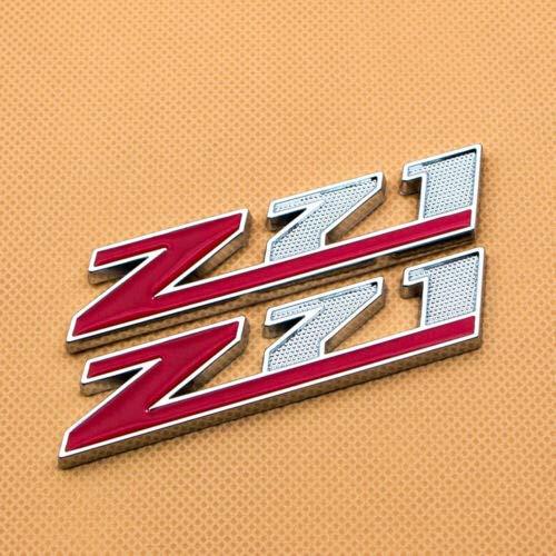 2Pack Metal Z71 Off Road Sport Front Door Badge 3D Nameplate Letter Door Fender Emblem Sticker Logo Replacement for Silverado 1500 2500HD Sierra Tahoe ((Red))