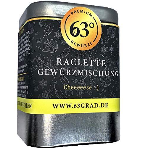 63 Grad - Raclette Gewürz - Gewürzmix für leckere Raclette oder Käsefondue Abende (70g)
