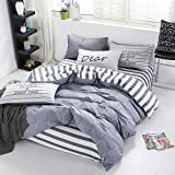 LEV Bedding Sets - Cotton Satin Bedding Set Comforter Bedding Set Duvet Cover Bed Sheet Pillow Quilt Cover Single/Double/Queen Size Quilted - by 1 PCs