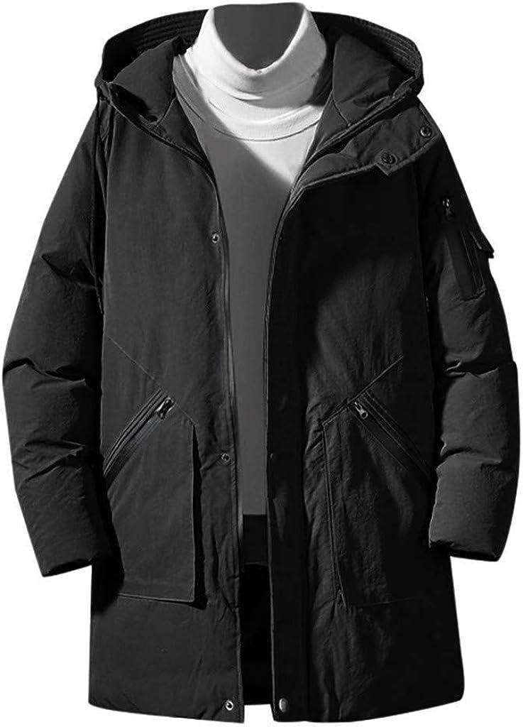 Stoota Men's Latest Water & Windproof Ski Jacket, Winter Warm Snow Coat Mountain Windbreaker Hooded Longline Coat M-5XL
