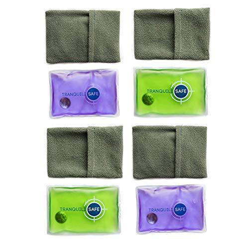 TRANQUILISAFE ® - Taschenwärmer I Handwärmer I Wärmekissen Wiederverwendbar mit Bezug aus Microfaser – Nie mehr kalte Hände im Winter – ideal für Kinder - 4er Set, je 11x8 cm