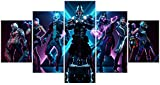 Jackethings 5 Piece Video Game Canvas Wall Art Creative Wall Painting Unframed for Home Canvas Art Decor