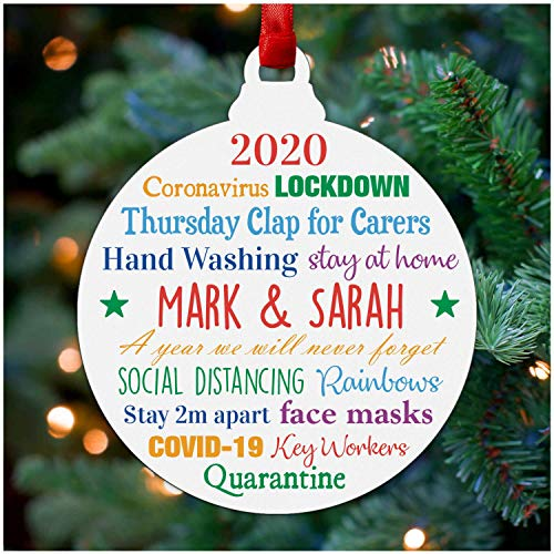 Lockdown 2020 Christmas Decorations - Personalised...