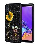 Galaxy A10E Case, Slim Anti-Scratch TPU Rubber Protective Case Cover for Samsung Galaxy A10E (2019) - Sunflower and Sloth