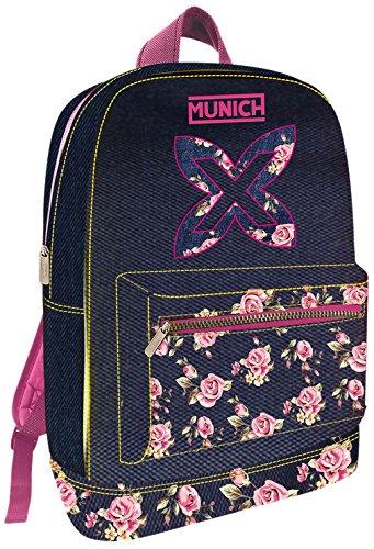 Munich Flower 455711 Mochila Tipo Casual, 45 cm, 19 Litros, Rosa