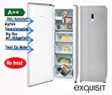 exquisit Gefrierschrank Eisschrank 260L A++ Inoxlook GS 290-1 NFA++ Inoxlook