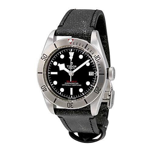 Tudor 79730-0003 Heritage Black Bay - Reloj de Pulsera para Hombre (41 mm, Correa de Piel Negra)
