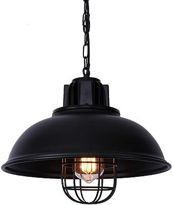 NIUYAO Lampe Suspension Lustre Abat jour en Métal avec
