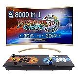 LEONARCADE Pandora Box 3D 8000 In 1 Maquina Arcade Incluye 2D y 3D Juegos WiFi Mercado Arcade Consola Retro Maquina 4 judadores USB/HDMI/VGA Multijugador Arcade Game Console