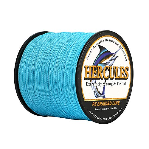 HERCULES Super Strong 1000M 1094 Yards Braided Fishing Line 30 LB Test...