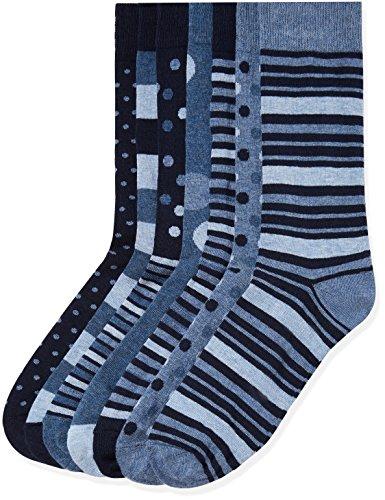 Marca Amazon - find. Calcetines Hombre, Pack de 7, Azul (Blue Mix), 44-47 EU, Label: 10-12 UK