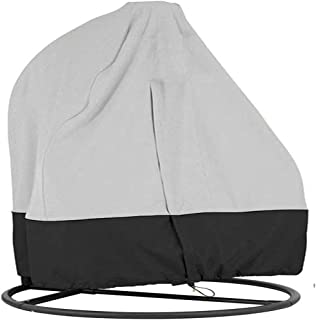 Patio Egg Chair Cover Double Waterproof Outdoor Hanging Chair Cover with Zipper Patio Wicker Swing Chair Covers for Cocoon...