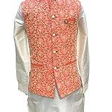 Blue CERF Men's Indian Silk Blend Kurta...
