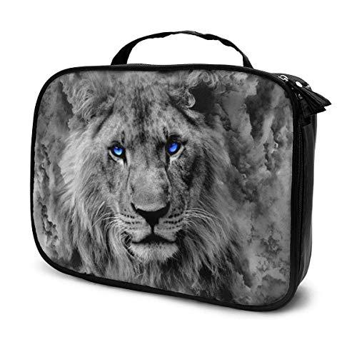 Surreal Lion Kosmetiktasche mit zwei Weingläsern, großes Fassungsvermögen, tragbar, Make-up-Tasche für Künstler, Toilettenartikel, Schmuck, Digitalzubehör