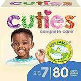 Cuties Hypoallergenic Skin Smart Baby Diapers, Size 7, 80 Count