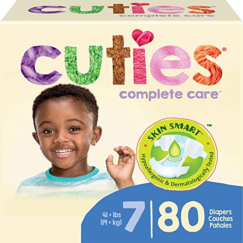 Cuties Complete Care Baby Diapers, Size 7, 80 Count (00090891950836)