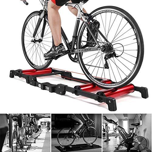 WYJW Soporte para Entrenador de Bicicletas Entrenador de Bicicletas con Resistencia fluida para Entrenamiento de equitación en Interiores Bicicleta de montaña de 24-29 Pulgadas Biciclet