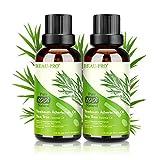Aceite de Árbol de Té 100% Natural, 2*30 ML Aceites Esenciales - Aceite de Acné, Suero de Acné,...