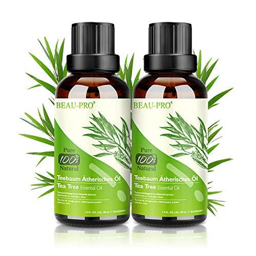 Aceite de Árbol de Te 100% Natural, 2 * 30 ML Aceites Esenciales - Aceite de Acne, Suero de Acne, Tratamiento Antiacne Contra la Piel y Cara con Imperfecciones, Antipinillas, Acne