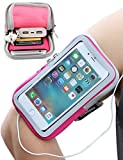 iMangoo iPhone 8 Plus Armband, iPhone 6S Plus Sports Armband Pouch Running Armbands