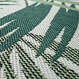 Paco Home Outdoor Teppich Terrasse u. Balkon, Küchenteppich Im Modernen Greenery Boho Look, Grösse:100x200 cm, Farbe:Grün - 2