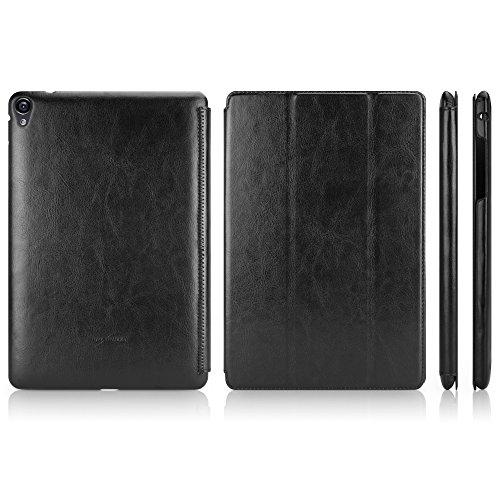 Nexus 9 Case, BoxWave [Slimline Leather Smart Case] Ultra Thin, Highly Protective Smart Cover for Google Nexus 9 - Nero Black