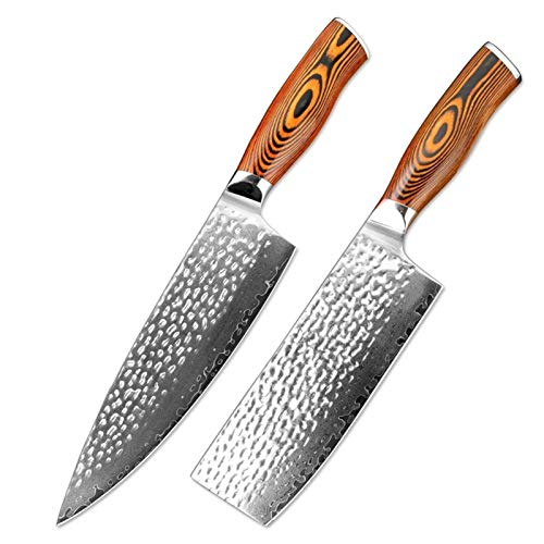 Cuchillo de chef de 8 pulgadas Damasco Cuchillo de acero inoxidable cuchillo afilado cuchillo Santoku Herramienta de cuchillo de carne