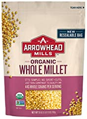 One 28 oz. bag of Whole Millet 44 grams of whole grains per serving Good source of fiber and protein USDA-Certified Organic and Non-GMO Project Verified Certified Kosher