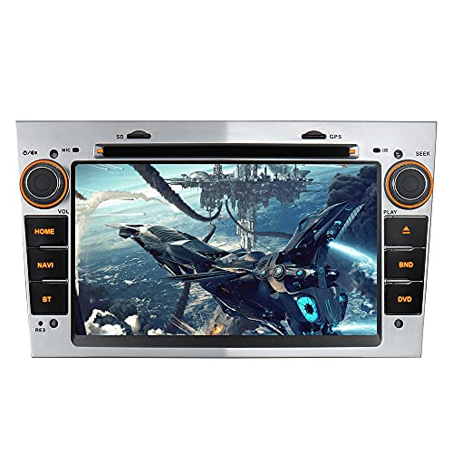"7\"" AUTORADIO MIT 3G DVD GPS Navigation USB SD Bluetooth Autoradio CD Moniceiver+Bluetooth+ Dual Zone+Subwoofer+DAB+Mirrorlink+VMCD Für OPEL Zafira B Astra H Corsa D Meriva Vivaro (Silber)"
