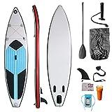Stand Up Paddle Set Sup 305 X 76 X 15 Cm MAX 120 Kg Luz Estable Inflable Juego Completo Bolsa De Transporte Aletas De Paleta Bomba De Aire Kit De Reparación De Correa