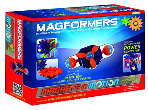 Magformers Magnets in Motion Power Accessory Set (27-Pieces) Magnetic    Building      Blocks, Educational  Magnetic    Tiles Kit , Magnetic    Construction  STEM Gear Set JungleDealsBlog.com