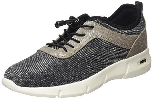 MTNG Ferrata, Zapatillas Mujer, Plateado (Nurexin Plata/Santo Plata/Licra Negro), 41 EU