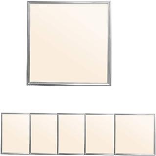 ECD Germany 5 x Panneau LED 36W - 60 x 60 cm - Ultra mince - SMD 3014 - Blanc chaud 3000K - 220-240 V - Environ 3020 lumen...