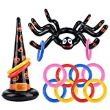 Best Adult Party Games - balnore 10 Pack Huge Inflatable Spider Witch Hat Review