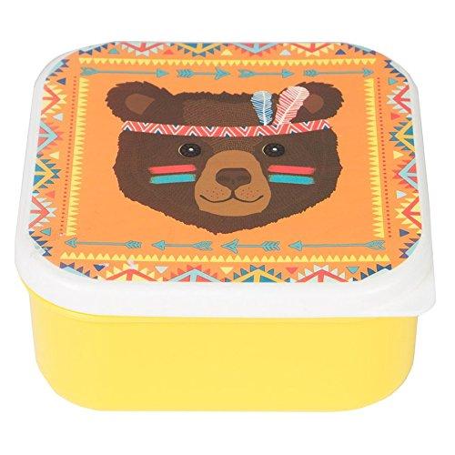 Sass Belle - Boite à goûter, Lunch box - Boite a gouter Ours indien