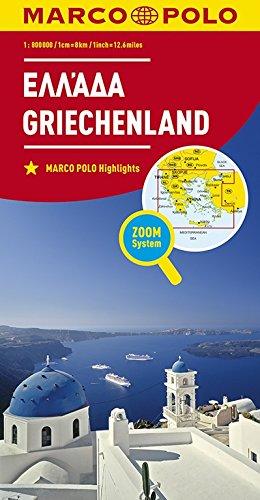 Marco Polo Griekenland 1:800 000: Wegenkaart 1:800 000