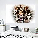 Atracción de la pintura de la lona del tigre Imagen de animal en la pared Decoración de la habitación Carteles e impresiones Impresión de la pared Obra de arte regalos para las mujeres