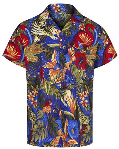 Redstar Fancy Dress - Camisa Hawaiana de Manga Corta - para Hombre - Jungla y Animales - Todas Las Tallas -...