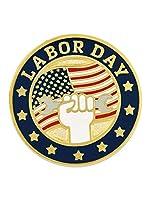 PinMart ラペルピン 労働者の日 愛国 アメリカ国旗 エナメルラペルピン 50