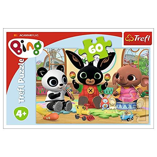Trefl GXP-694520 , Puzzle, Im Rhythmus von Bing, 60 Teile, für Kinder ab 4 Jahren