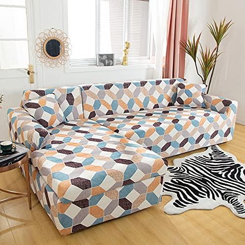 WXQY Fundas elásticas elásticas Antideslizantes Funda de sofá para Mascotas Funda de sofá Esquina en Forma de L Funda de sofá Antideslizante A21 2 plazas