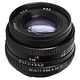 Dpofirs Lente de Retrato de 50 mm F1.7, Montura PK, fotograma Completo, Gran Apertura, Cabezal de Enfoque Fijo, nitidez y desenfoque con Interfaz de Filtro de 52 mm para cámara SLR Pentax