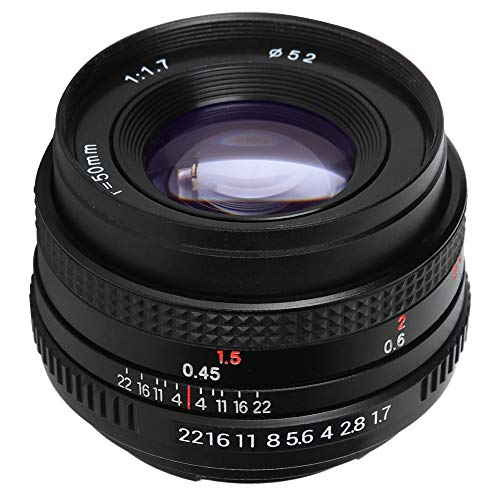 Obiettivo per ritratti F1.7 da 50 mm, testina di messa a fuoco fissa ad ampia apertura full frame con attacco PK, nitidezza e sfocatura con interfaccia filtro da 52 mm per fotocamera SLR Pentax