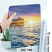軽量版IPad ケース iPad2 ケース iPad3 ケース iPad4 ケース スタンド機能 レザー(PU) オートスリープ 傷つけ防止 2つ折タイプ iPad2/3/4世代専用スマートカバー米国フロリダ州キーウェストのビーチで桟橋