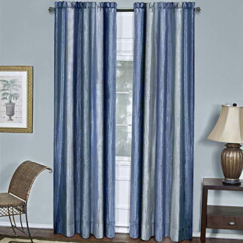 Achim Home Furnishings Ombre Window Curtain Panel, 50 x 84, Blue