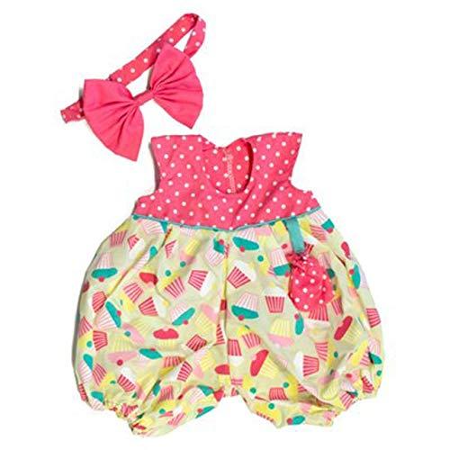 Rubens Barn Kleidung Party Collection - Little Meiya / 1 x bunt gemustertes Kleid + Haarreif